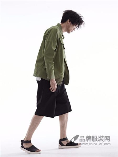希尼顿男装2017秋冬时尚休闲军绿色外套