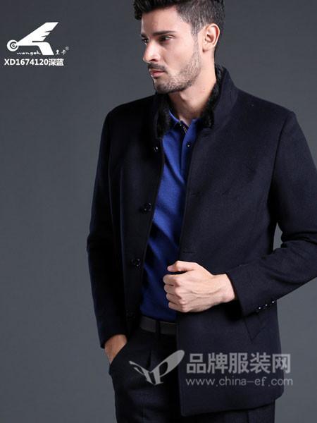 皇卡男装2017秋冬新款羊毛呢子商务西服男立领西装男外套