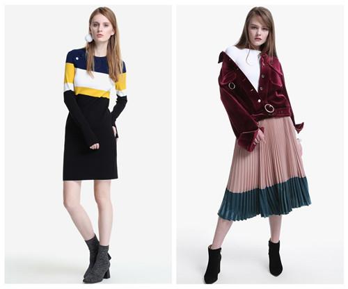 欧时力 广州伊行服饰有限公司品牌折扣女装2017冬季新品