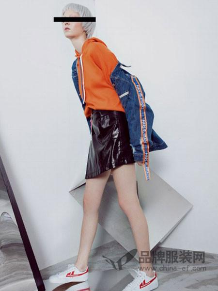 艾赛丝戈女装2017秋冬时尚个性休闲牛仔外套