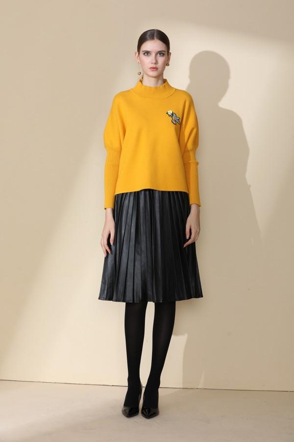 杭州时尚品牌拉素17冬大衣外套女装折扣分份批发