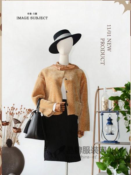 印象主题女装进口美利奴皮毛一体女短款2017冬拼色廓形羊羔毛皮草外套大衣