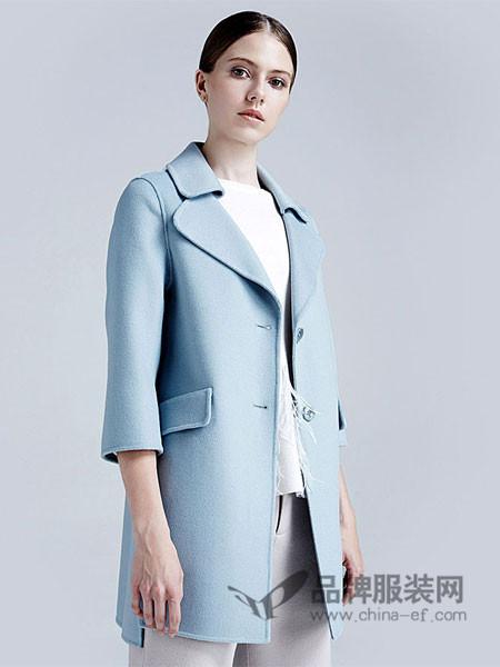梦菲雪女装呢子外套女中长款韩版2017新款宽松毛呢双面羊毛大衣女显瘦