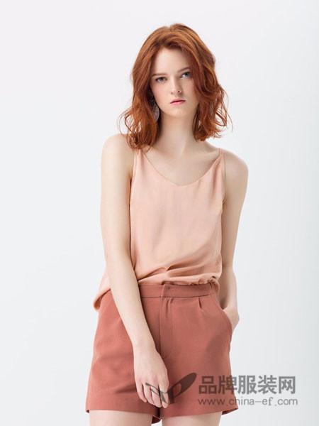 拉夏薇媞女装甜美色系简约优雅编织腰带侧开叉连衣裙