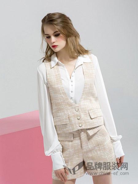 拉夏薇媞女装木耳边蕾丝雪纺衬衫女上衣百搭时尚白色灯笼袖衬衣