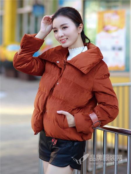 依贝尔女装2017秋冬外套宽松bf棉服女百搭时尚小棉衣短款棉袄潮