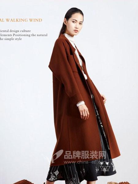 弗蔻Fu Kou女装2017秋冬时尚大气中长呢子大衣