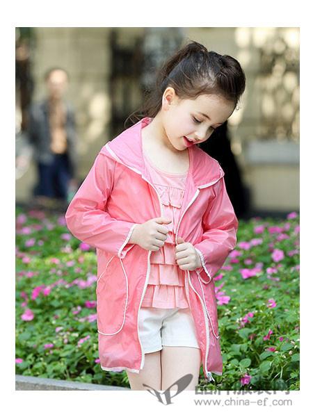 小熊空间童装休闲粉色防晒衣
