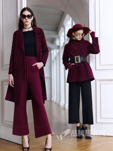例格女装2017秋冬超长款加棉厚毛呢大衣女过膝宽松毛呢外套