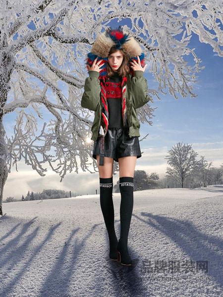 卡布依女装2017冬季时尚潮流女装新款水貂内胆可拆卸夹克飞行服外套