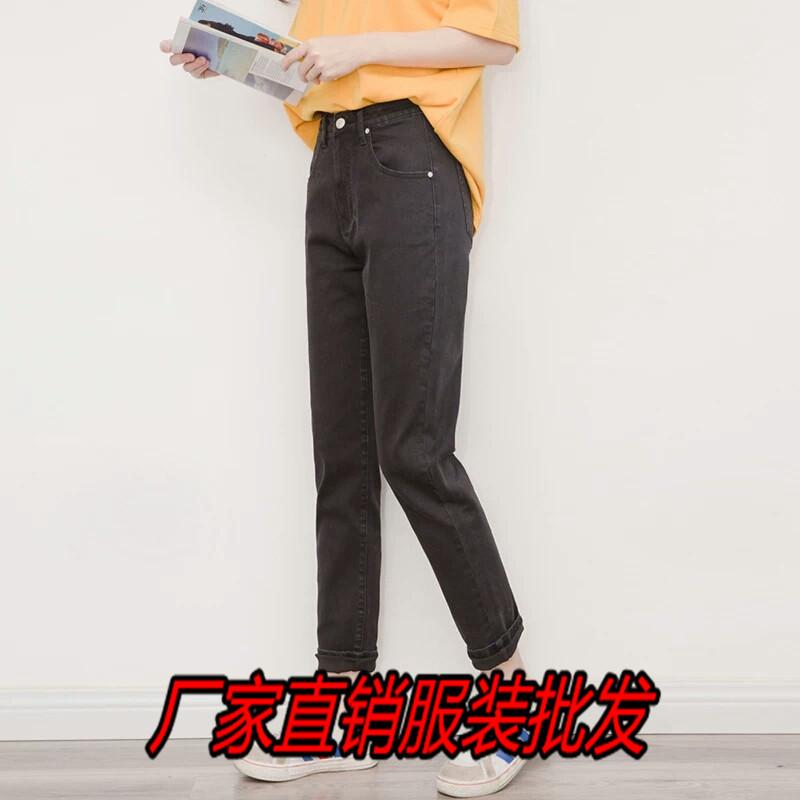 厂家直销新款牛仔裤货源便宜5元棉弹牛仔裤杭州四季青小整单牛仔裤批发