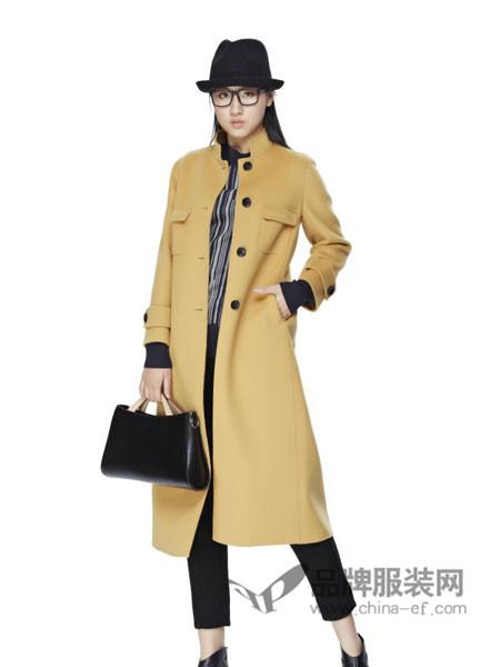 墨曲女装2017秋冬韩版气质中长款显瘦百搭毛呢大衣毛呢外套