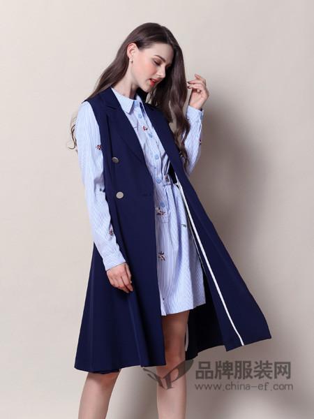 戴莉格琳女装2017秋冬韩版西装马甲女百搭中长款宽松时尚马夹背心外套