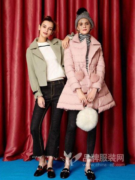千姿惠Qanzhui女装2017秋冬韩版显瘦宽松百搭小个子毛呢大衣