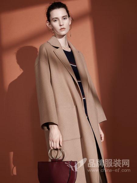米茜尔女装2017冬季双面羊绒呢子大衣中长款外套