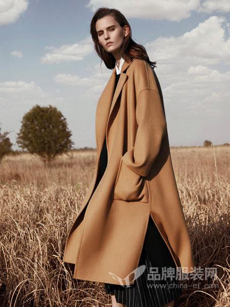 米茜尔女装2017冬季欧式宽松轻薄呢子外套