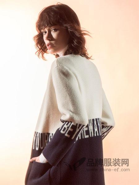 WSM 威丝曼女装2017秋冬韩版宽松针织衫百搭外套