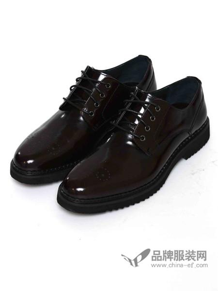 伽马射线鞋韩版圆头小皮鞋男英伦潮流亮面男鞋