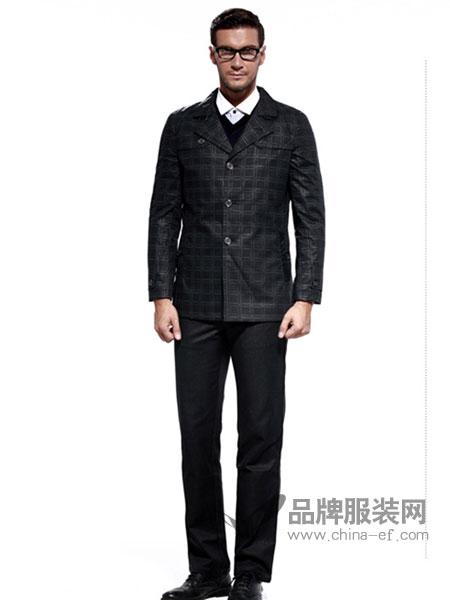 DEON狄安男装2017秋冬新款纯色立领棉衣男士休闲保暖外套
