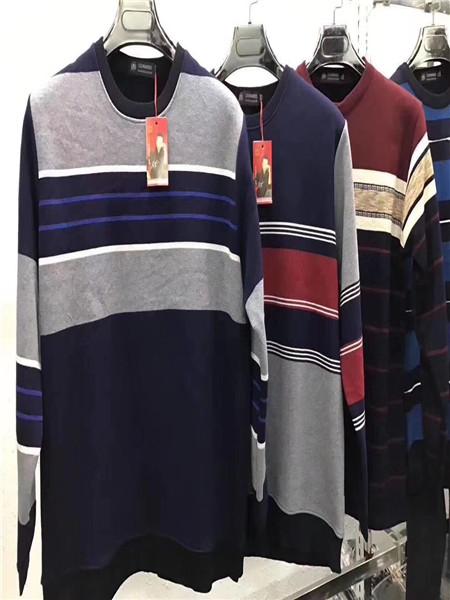 老人头加绒羊毛衫男装2017冬季新品