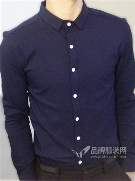 Mt.美特华菲男装2017秋冬商务纯色正装衬衣