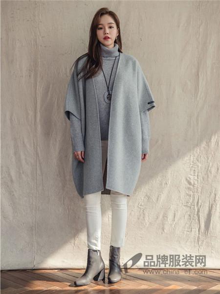 JOAMOM女装2017秋冬无扣休闲针织衫休闲外套