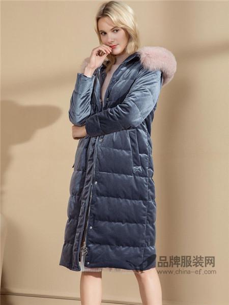 亦谷女装2017秋冬中长款金丝绒大衣修身韩版荷叶边加厚毛呢子外套