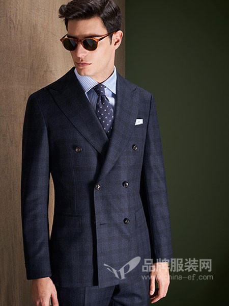 私定一身男装2017秋冬意大利进口面料维达莱商务正装双排扣西服套装
