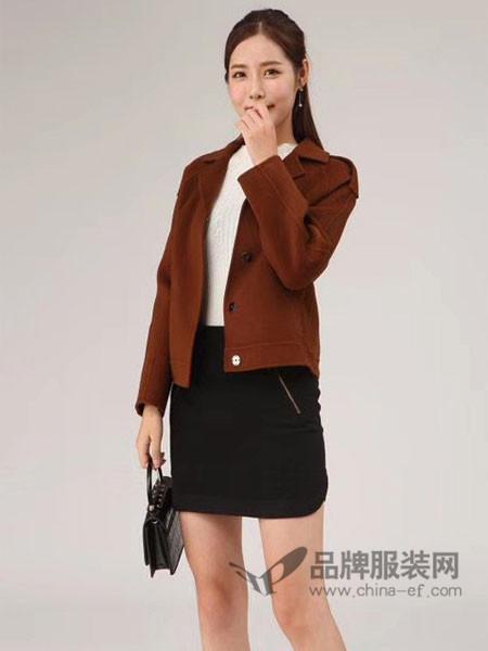 雨珊女装2017秋冬双面呢羊绒呢子大衣羊毛呢短款外套
