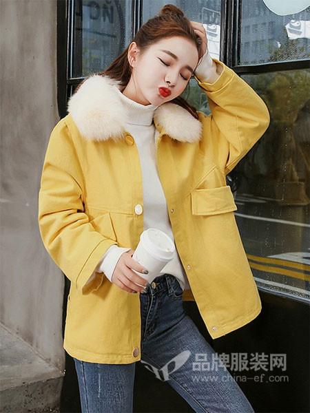 诺诗琪女装2017秋冬宽松羊羔毛棉衣矮个子小棉袄短款外套