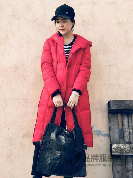 底色女装2017冬季复古文艺加大加厚保暖中国红羽绒棉服外套
