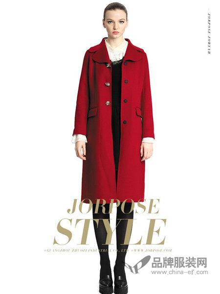 卓姿・乔雅女装2017秋冬中长款双面呢大衣女过膝双面绒羊毛呢子外套