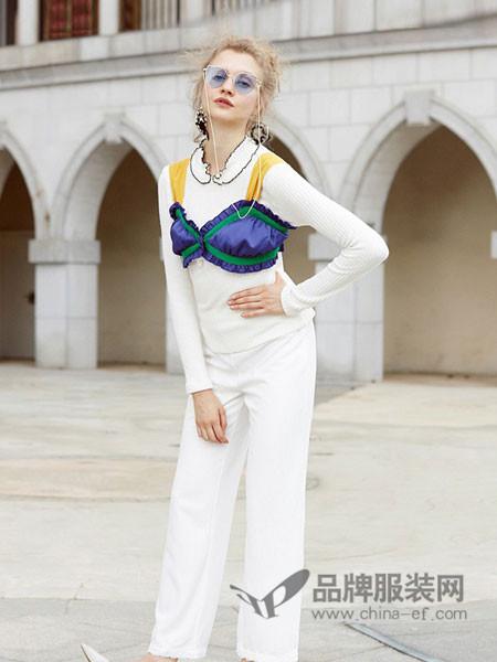 衣阁里拉女装2018春夏时尚个性吊带两件套上衣