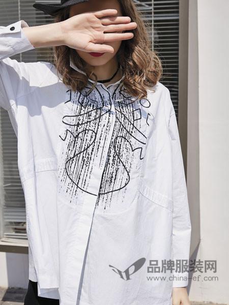 JISUO女装2018春夏时尚个性宽松衬衣