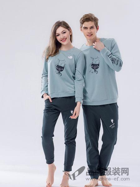 桃花季睡衣2018春夏棉质长袖卡通可爱家居服套装