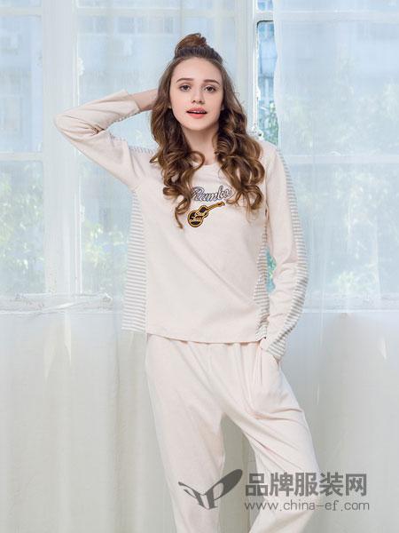 桃花季睡衣2018春夏简约家居服少女莱卡棉质居家服套装