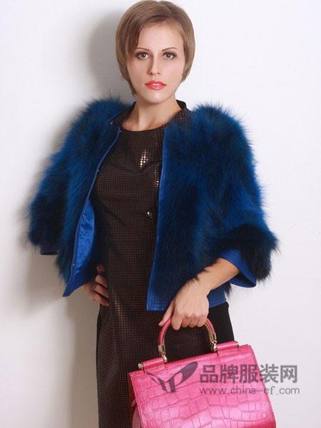 COCOLAN女装貉子皮草外套女修身年轻百搭狐狸毛显瘦