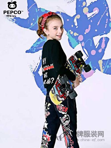 小猪班纳童装品牌2018春夏韩版长袖印花套装