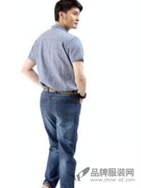 古威隆裤装男装宽松直筒百搭牛仔裤