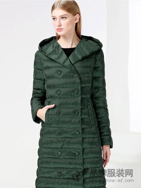 白翎风采女装2017冬季轻薄羽绒服女中长款修身显瘦外套女