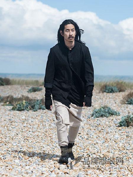 Musee Noir男装暗斜纹梭织面料修身外套