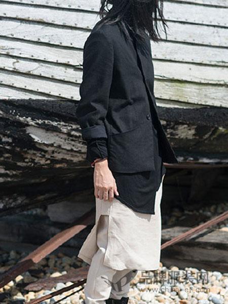 Musee Noir男装修身休闲翻领长袖外套
