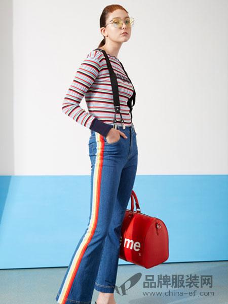 YDG女装2018春夏修身显瘦时尚牛仔背带裤
