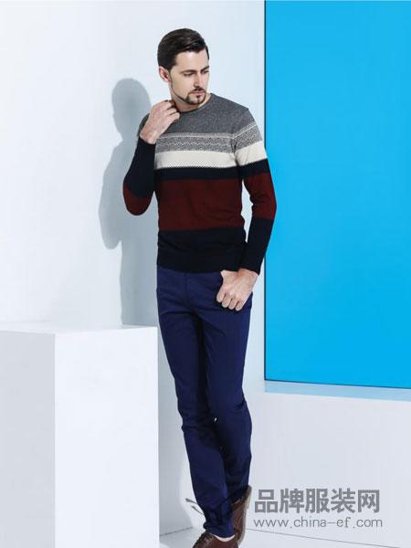 大布山男装圆领毛衣加厚羊绒衫男针织羊毛打底衫