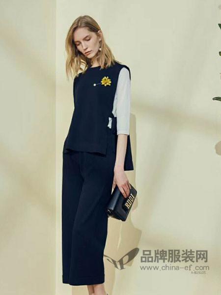 婉枫女装2018春夏时尚优雅气质开叉连衣裙