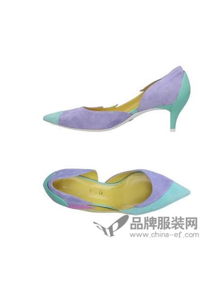 Baldinini鞋新品羊反绒高跟低帮鞋金属铁跟走秀台鞋
