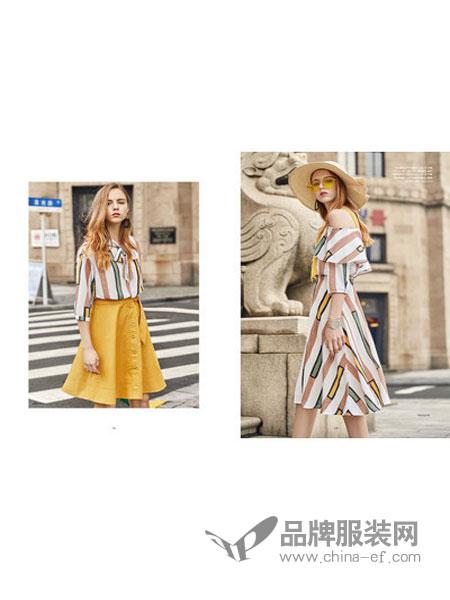 JFMS女装2018春夏条纹时尚百搭衬衫上衣