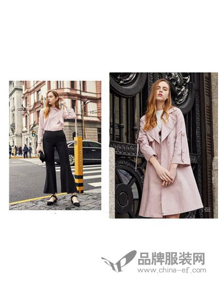 JFMS女装2018春夏时尚翻领修身外套