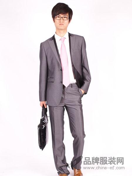 T&G坦托格雷)男装商务休闲英伦浅灰小西装男套装