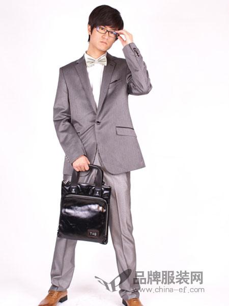 T&G坦托格雷)男装灰色韩版修身型西服商务单西套装